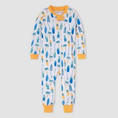 Burt's Bees Baby® Baby Boys' Surfboard and Palm Pajama Jumpsuit - Orange