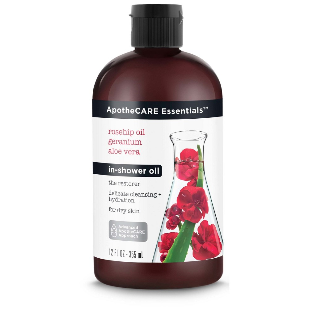 Image of ApotheCARE Essentials Delicate Cleansing + Hydration for Dry Skin In-Shower Oil - 12 fl oz