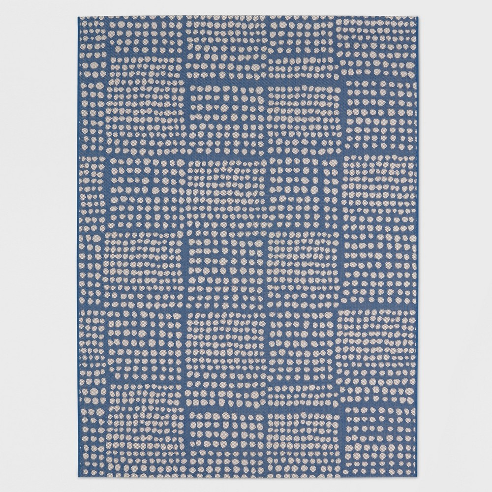 8' x 10' Dot Grid Outdoor Rug Blue - Project 62