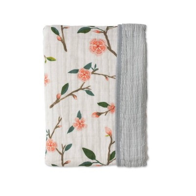 Red Rover Cotton Muslin Quilt - Peach Blossom