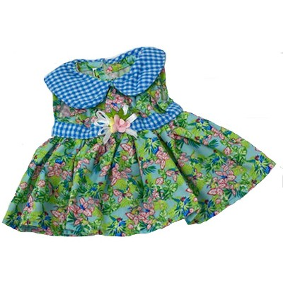 Doll Clothes Superstore Pink Flower Dress Fits Some Baby Alive And Little Baby Dolls