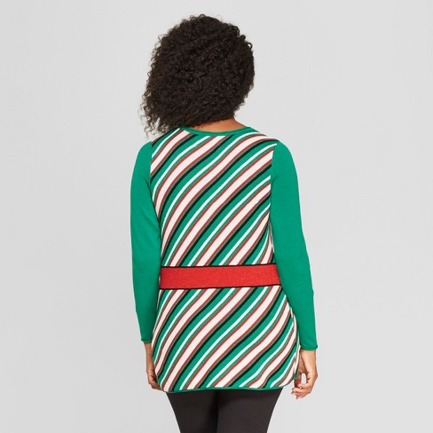 maternity best gift ever sweater ugly christmas sweater green target