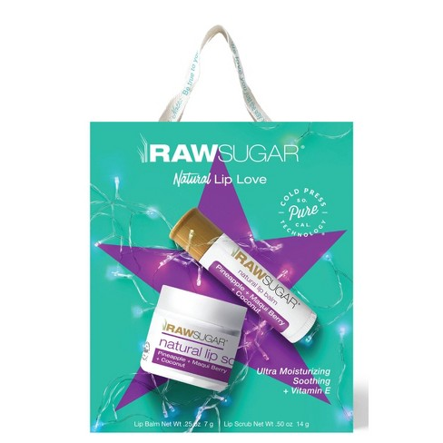 Raw Sugar Pure Lip Duo - Pineapple + Maqui Berry + Coconut - image 1 of 4