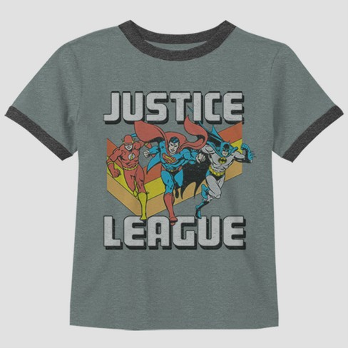 c2f7f7733 Toddler Boys' DC Comics Justice League Short Sleeve T-Shirt - Gray ...