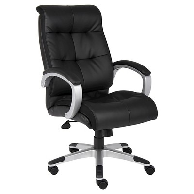 B Double Plush High Back Executive Chair Black  Boss Office Products