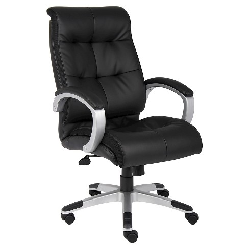 Double Plush High Back Executive Chair Black Boss Office Products