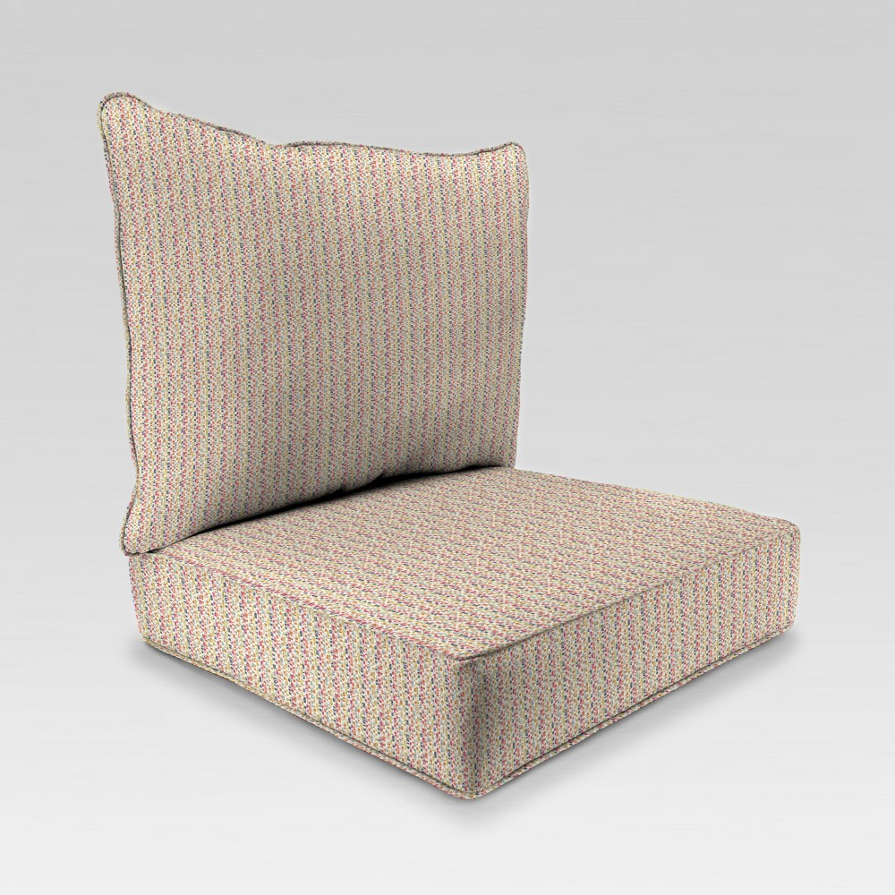 Image of 2pc Deep Seat Chair Cushion - Beige with Dots - Jordan Manufacturing