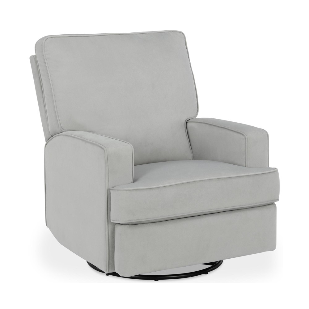 Image of Baby Relax Addison Swivel Gliding Recliner - Light Gray