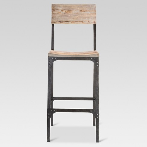 "Franklin 29"" Barstool Steel/Natural - Threshold™ - image 1 of 6"
