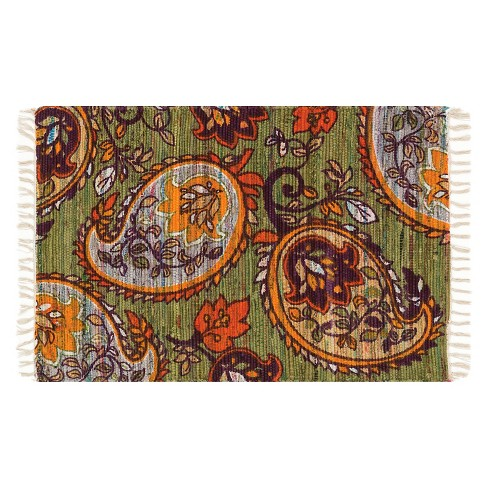 "Loloi Aria Accent Rug - Green (1'8""X3') - image 1 of 1"