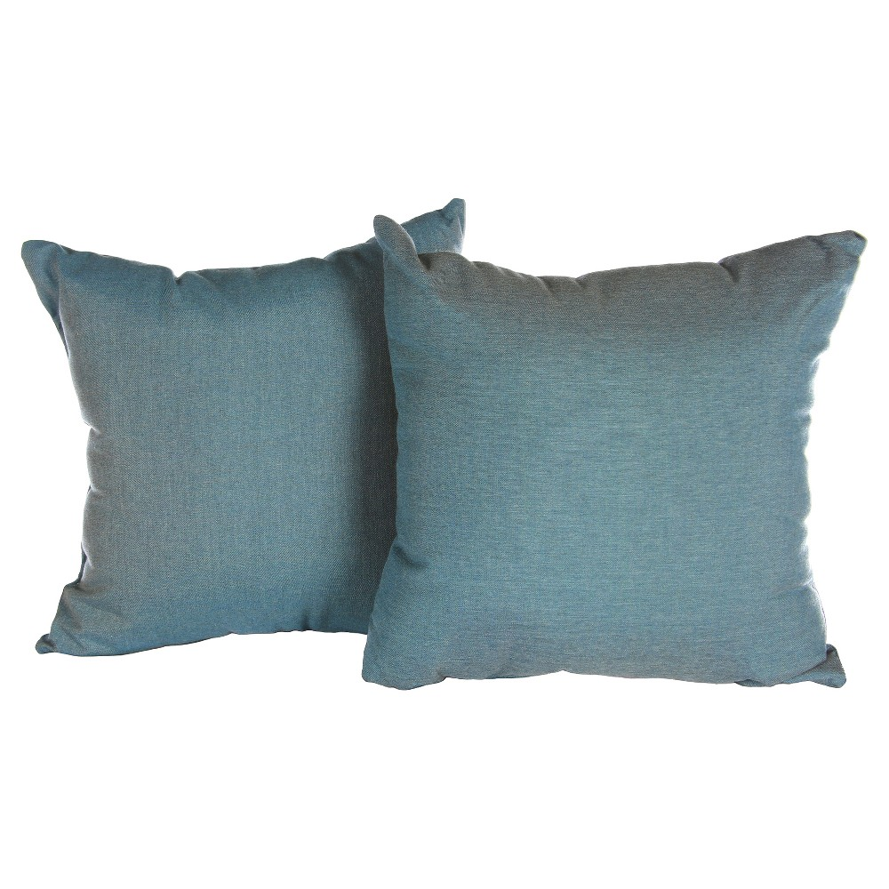 Image of Pillow in Cast - Lagoon - AE Outdoor