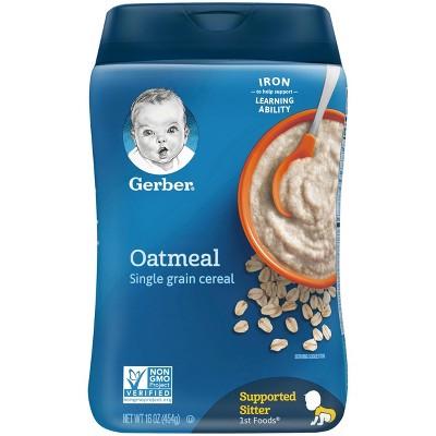 Gerber Single Grain Oatmeal Baby Cereal - 16oz
