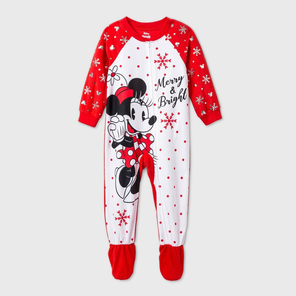 Best Toddler Girls' Minnie Mouse Footed Pajama -