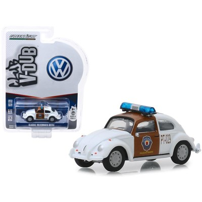 "Classic Volkswagen Beetle ""Chiapas, Mexico Traffic Police"" ""Club Vee V-Dub"" Series 9 1/64 Diecast Car by Greenlight"
