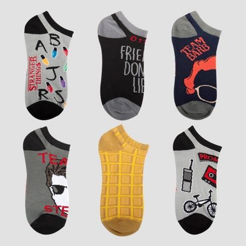 Women's Stranger Things 6pk Socks - Gray One Size - image 1 of 1