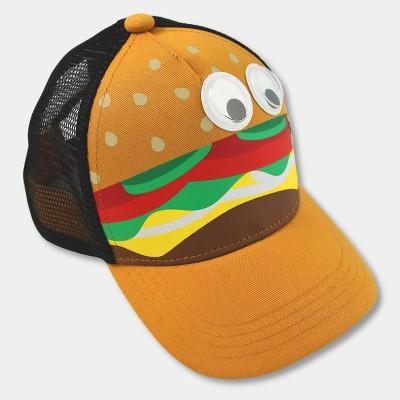 Baby Boys' Hamburger Trucker Hat with Googly Eyes - Cat & Jack™ 12-24M