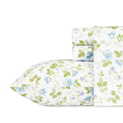 Cotton Sheet Set Queen Spring Bloom - Laura Ashley
