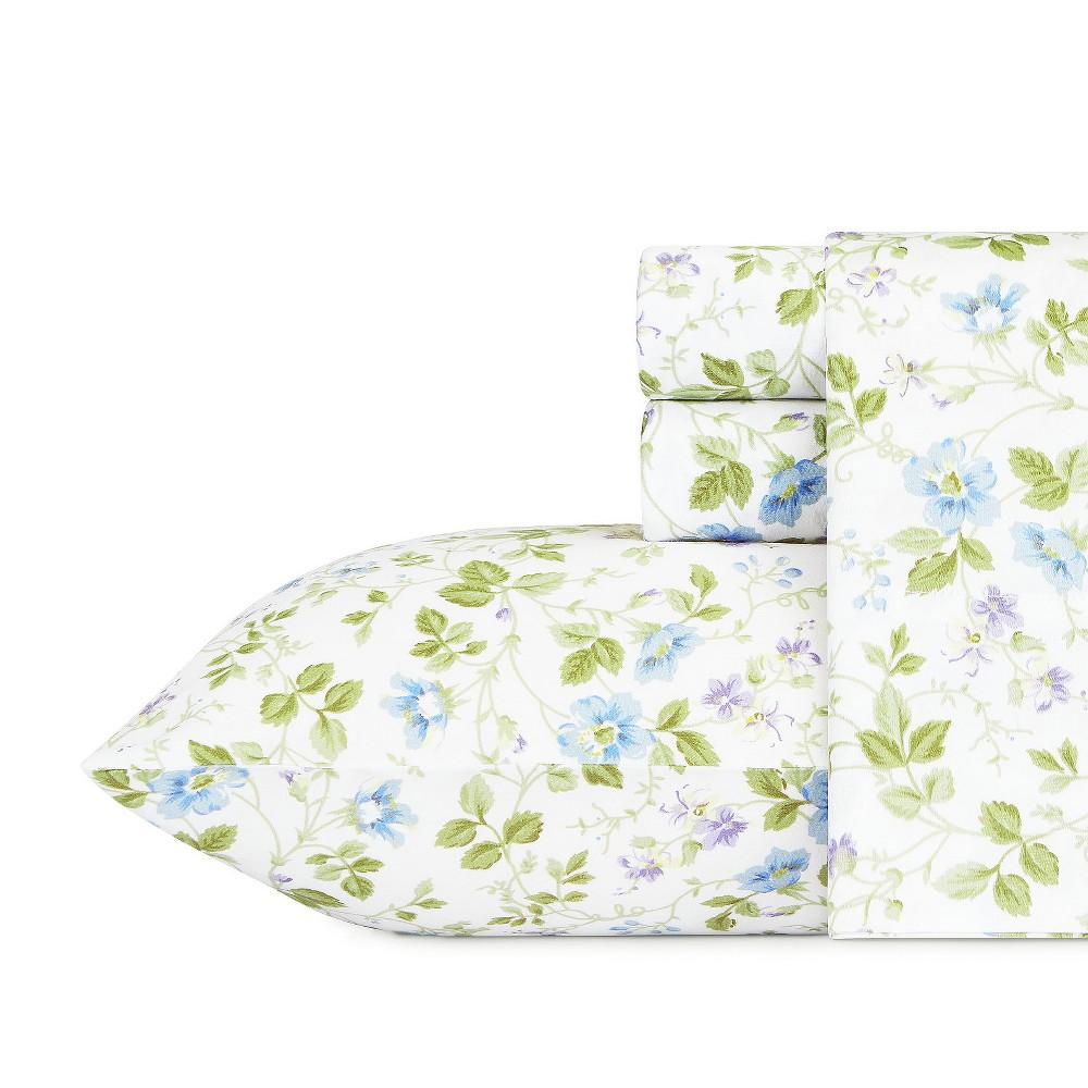 Cotton Sheet Set King Spring Bloom - Laura Ashley, Multicolored
