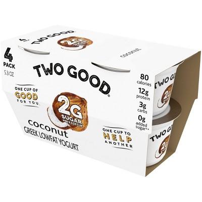 Two Good Coconut Greek Yogurt - 4pk/5.3oz Cups