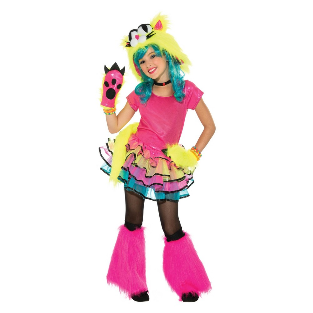 Girls' Party Cat Halloween Costume L, Multicolored