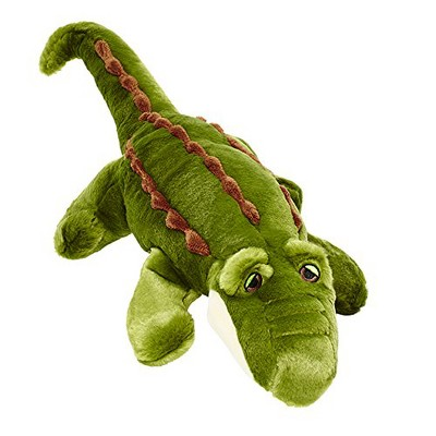 Fluff & Tuff Big Daddy the Gator, Extra Large Plush Dog Toy with Squeaker