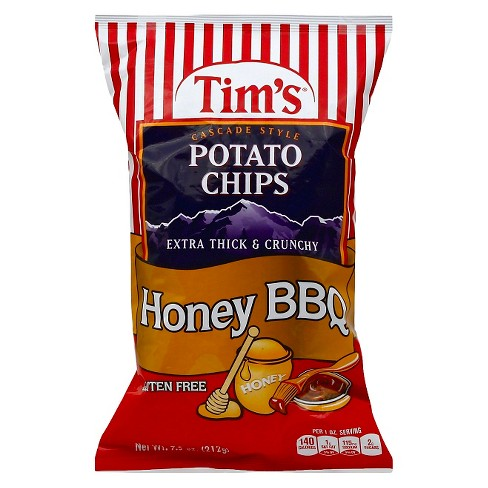 Tim's Cascade Style Honey BBQ Potato Chips - 7.5 oz - image 1 of 1