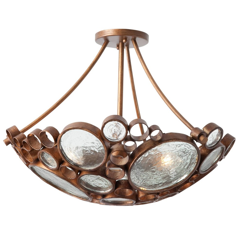 Image of Fascination 3 Light Ceiling Light - Hammered Ore