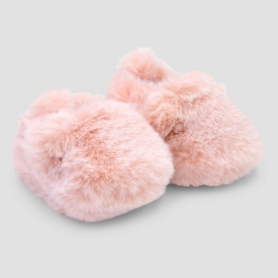 Baby Girls' Bear Constructed Booties - Just One You® made by carter's Pink Newborn