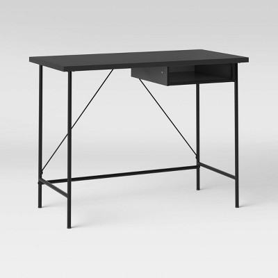 Wood and Metal Writing Desk with Storage - Room Essentials™
