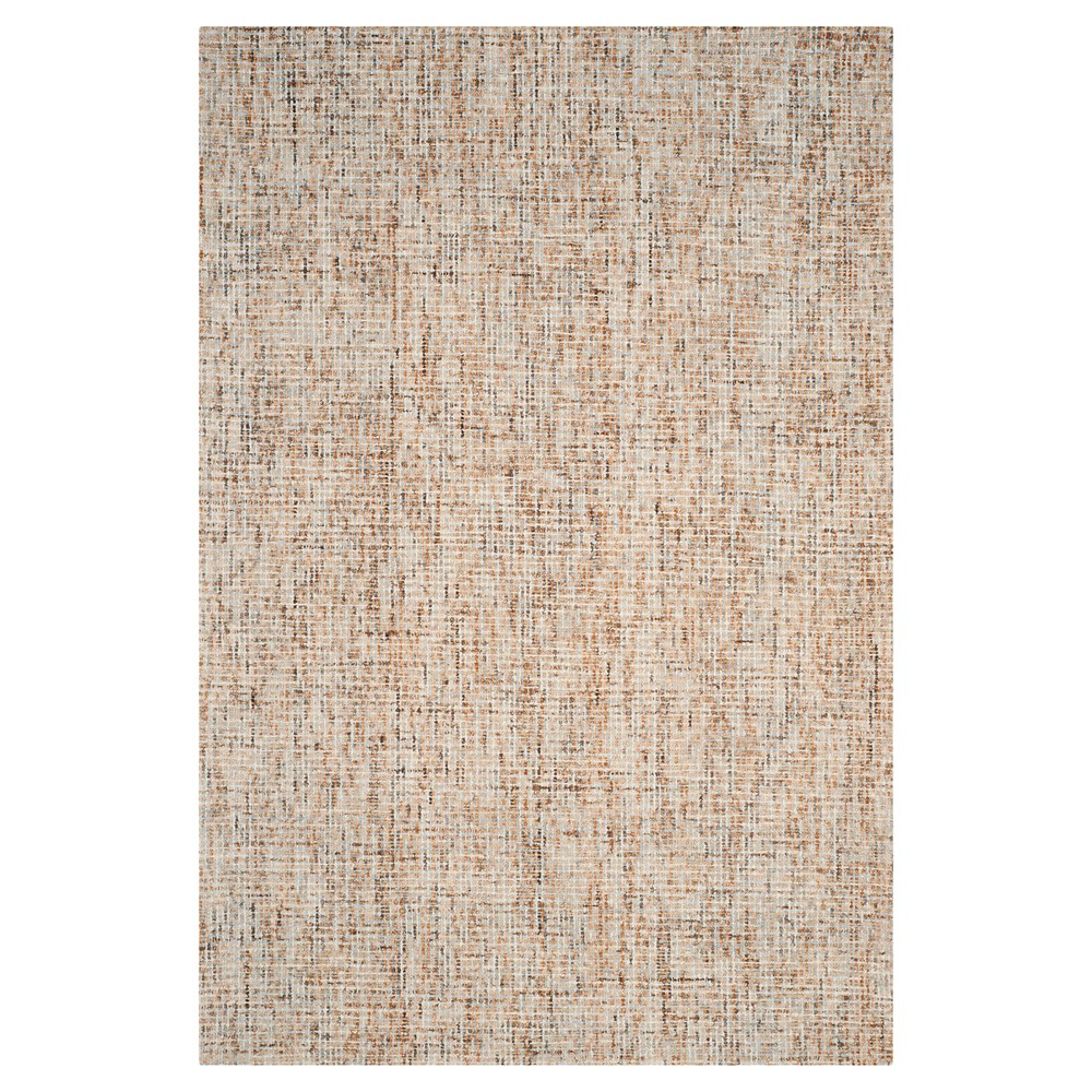 Beige/Rust (Beige/Red) Abstract Tufted Area Rug - (6'X9') - Safavieh