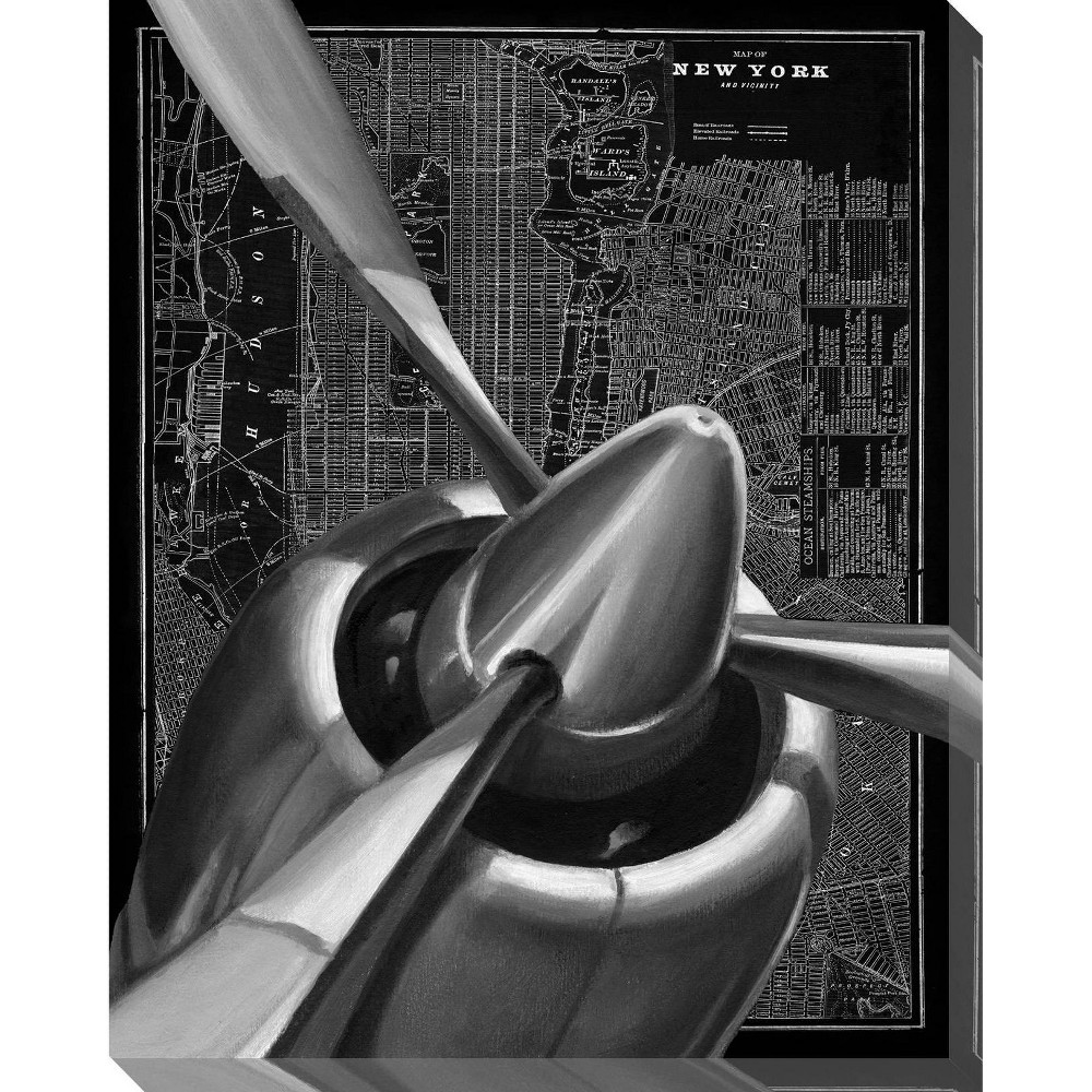 Image of Vintage Plane I Unframed Wall Canvas Art - (24X30)