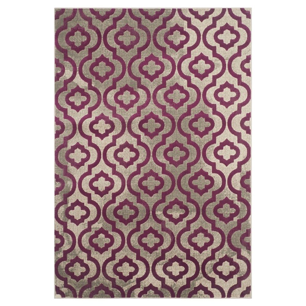 Milo Area Rug - Light Gray / Purple ( 6' X 9' ) - Safavieh, Light Gray/Purple