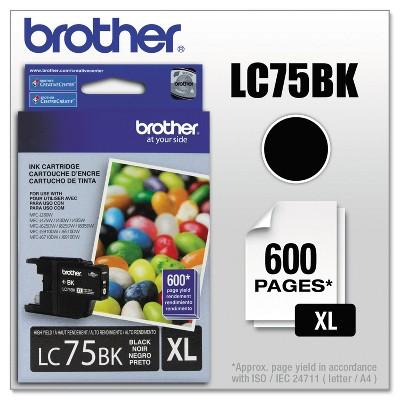Brother LC75BK Innobella High-Yield Ink Black