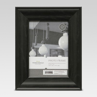 5 x7  Black Wood Grain Frame - Threshold™
