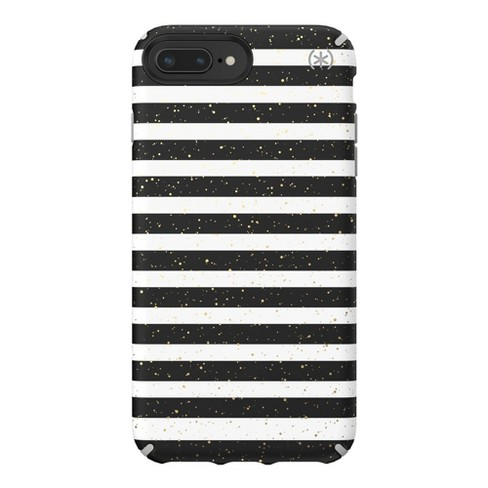 Speck Apple iPhone Presidio Inked Phone Case - Striped Gold Speckled /Marble Gray - image 1 of 4
