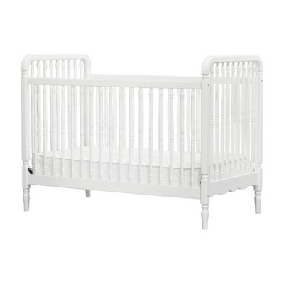 Million Dollar Baby Classic Liberty 3-in-1 Convertible Spindle Crib with Toddler Rail - White