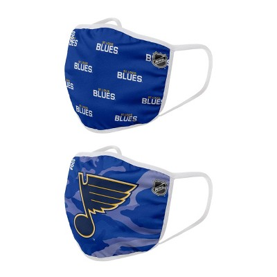 NHL St. Louis Blues Adult Face Covering 2pk