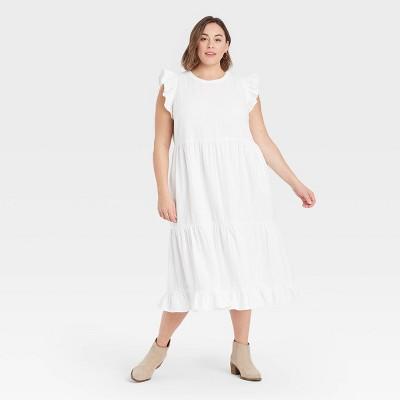 Women's Ruffle Sleeveless Tiered Dress - Universal Thread™
