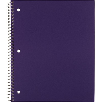 """Staples Poly Cover Notebook College Ruled Purple 8-1/2"""" x 11"""" 12 PK 20954CT"""
