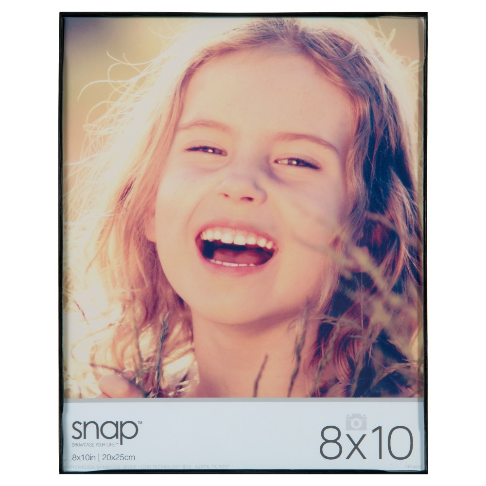 """Image of """"Black Front Loading Frame Set (8""""""""X10"""""""") Set of 12, Multi-Colored"""""""