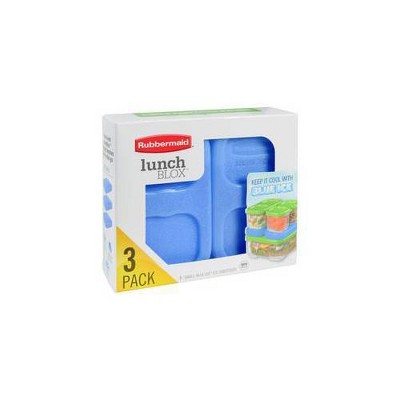Rubbermaid LunchBlox Small Blue Ice - 3pk