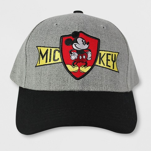 b6a5d52bb90 Men s Mickey Mouse Retro Uncle Cap - Gray One Size   Target