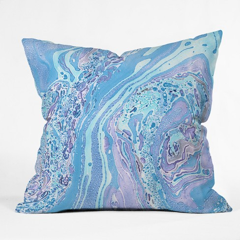 Blue Marble Throw Pillow - Deny Designs - image 1 of 1