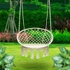 Hanging Rope Chair Off White - Sorbus - image 2 of 4