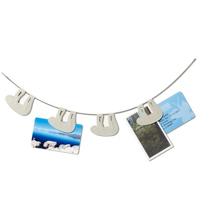 "Design Ideas Sloth Photo Clips – 7 Clips on 4ft Cable – Fog, 48"" x 0.2"" x 1.6"""