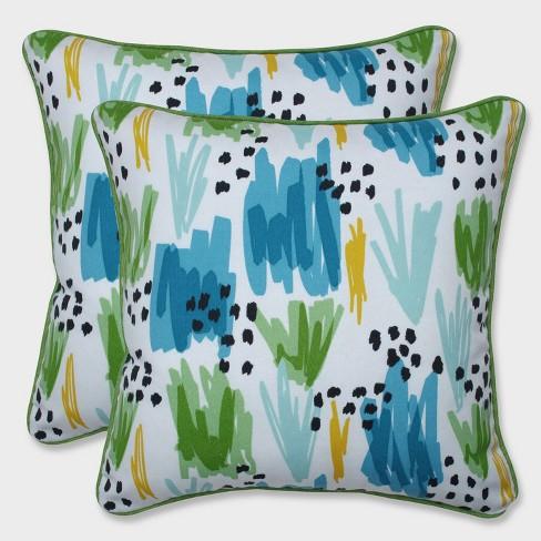 "16.5"" 2pk Flicker Seaglass Throw Pillows Blue - Pillow Perfect - image 1 of 3"