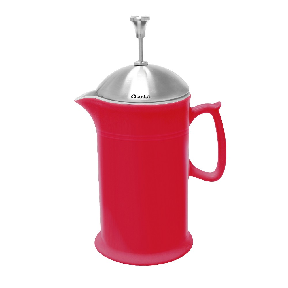 Image of Chantal Ceramic French Press 28oz - Red