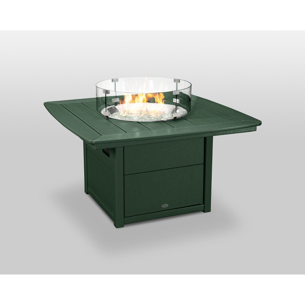 "Image of ""POLYWOOD 42"""" Nautical Fire Pit Table - Green"""