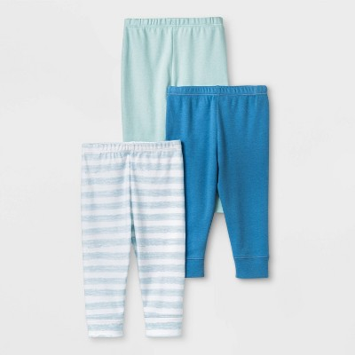 Baby Boys' 3pk Sleep Tides Leggings - Cloud Island™ Blue/Green/White 0-3M