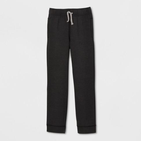 Boys' Adaptive Jogger Pants - Cat & Jack™ Black - image 1 of 2